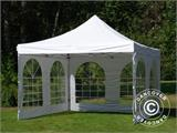 Vouwtent/Easy up tent FleXtents Xtreme 50 Vintage Style 4x4m Wit, inkl. 4 Zijwanden - 12