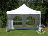 Vouwtent/Easy up tent FleXtents Xtreme 50 Vintage Style 4x4m Wit, inkl. 4 Zijwanden - 13
