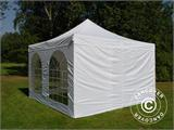 Vouwtent/Easy up tent FleXtents Xtreme 50 Vintage Style 4x4m Wit, inkl. 4 Zijwanden - 14