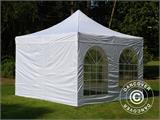 Vouwtent/Easy up tent FleXtents Xtreme 50 Vintage Style 4x4m Wit, inkl. 4 Zijwanden - 16