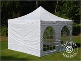 Vouwtent/Easy up tent FleXtents Xtreme 50 Vintage Style 4x4m Wit, inkl. 4 Zijwanden - 18