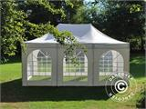 Pop up gazebo FleXtents PRO Vintage Style 4x6 m White, incl. 8 sidewalls - 12