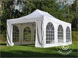 Pop up gazebo FleXtents PRO Vintage Style 4x6 m White, incl. 8 sidewalls - 19