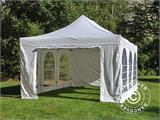 Pop up gazebo FleXtents PRO Vintage Style 4x6 m White, incl. 8 sidewalls - 20