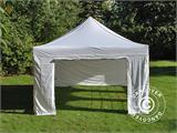 Pop up gazebo FleXtents PRO Vintage Style 4x6 m White, incl. 8 sidewalls - 21