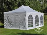 Pop up gazebo FleXtents PRO Vintage Style 4x6 m White, incl. 8 sidewalls - 24