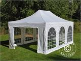 Pop up gazebo FleXtents PRO Vintage Style 4x6 m White, incl. 8 sidewalls - 28