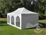 Pop up gazebo FleXtents PRO Vintage Style 4x6 m White, incl. 8 sidewalls - 30