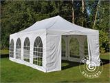 Carpa plegable FleXtents PRO Vintage Style 4x8m Blanco, incl. 6 lados - 1
