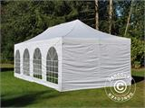 Carpa plegable FleXtents PRO Vintage Style 4x8m Blanco, incl. 6 lados - 2