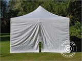 Carpa plegable FleXtents PRO Vintage Style 4x8m Blanco, incl. 6 lados - 3