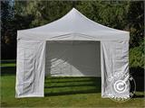 Carpa plegable FleXtents PRO Vintage Style 4x8m Blanco, incl. 6 lados - 4