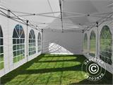 Carpa plegable FleXtents PRO Vintage Style 4x8m Blanco, incl. 6 lados - 5