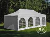 Carpa plegable FleXtents PRO Vintage Style 4x8m Blanco, incl. 6 lados - 6