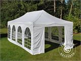 Carpa plegable FleXtents PRO Vintage Style 4x8m Blanco, incl. 6 lados - 7