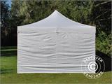 Carpa plegable FleXtents PRO Vintage Style 4x8m Blanco, incl. 6 lados - 9