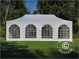 Carpa plegable FleXtents PRO Vintage Style 4x8m Blanco, incl. 6 lados - 11