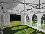 Carpa plegable FleXtents PRO Vintage Style 4x8m Blanco, incl. 6 lados - 12