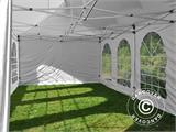 Carpa plegable FleXtents PRO Vintage Style 4x8m Blanco, incl. 6 lados - 13