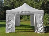 Carpa plegable FleXtents PRO Vintage Style 4x8m Blanco, incl. 6 lados - 16