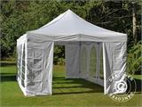 Carpa plegable FleXtents PRO Vintage Style 4x8m Blanco, incl. 6 lados - 17