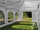 Carpa plegable FleXtents PRO Vintage Style 4x8m Blanco, incl. 6 lados - 20