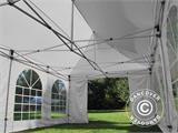Carpa plegable FleXtents PRO Vintage Style 4x8m Blanco, incl. 6 lados - 21
