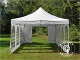 Carpa plegable FleXtents PRO Vintage Style 4x8m Blanco, incl. 6 lados - 22