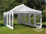 Carpa plegable FleXtents PRO Vintage Style 4x8m Blanco, incl. 6 lados - 23