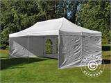 Carpa plegable FleXtents PRO Vintage Style 4x8m Blanco, incl. 6 lados - 24