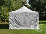 Carpa plegable FleXtents PRO Vintage Style 4x8m Blanco, incl. 6 lados - 25