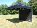 Pop up gazebo FleXtents Basic 110, 3x3 m Black, incl. 4 sidewalls - 1