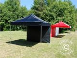 Pop up gazebo FleXtents Basic 110, 3x3 m Black, incl. 4 sidewalls - 10