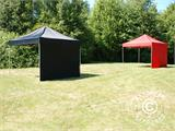 Pop up gazebo FleXtents Basic 110, 3x3 m Black, incl. 4 sidewalls - 11