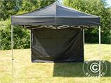 Pop up gazebo FleXtents Basic 110, 3x3 m Black, incl. 4 sidewalls - 12