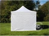 Carpa plegable FleXtents PRO 3x3m Blanco, Incl. 4 lados - 1