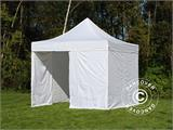 Carpa plegable FleXtents PRO 3x3m Blanco, Incl. 4 lados - 3