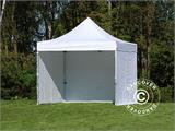 Carpa plegable FleXtents PRO 3x3m Blanco, Incl. 4 lados - 4