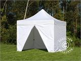 Carpa plegable FleXtents PRO 3x3m Blanco, Incl. 4 lados - 6