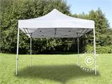 Carpa plegable FleXtents PRO 3x3m Blanco, Incl. 4 lados - 8