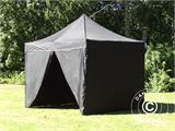 Pop up gazebo FleXtents PRO 3x3 m Black, incl. 4 sidewalls - 8
