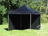 Pop up gazebo FleXtents PRO 3x3 m Black, incl. 4 sidewalls - 12