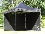 Pop up gazebo FleXtents PRO 3x3 m Black, incl. 4 sidewalls - 15