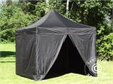 Pop up gazebo FleXtents PRO 3x3 m Black, incl. 4 sidewalls - 20