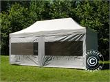 Pop up gazebo FleXtents PRO 3x6 m Silver, incl. 6 sidewalls - 1