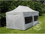Pop up gazebo FleXtents PRO 3x6 m Silver, incl. 6 sidewalls - 2