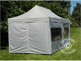 Pop up gazebo FleXtents PRO 3x6 m Silver, incl. 6 sidewalls - 3