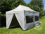 Pop up gazebo FleXtents PRO 3x6 m Silver, incl. 6 sidewalls - 4