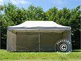 Pop up gazebo FleXtents PRO 3x6 m Silver, incl. 6 sidewalls - 6