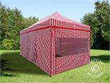 Pop up gazebo FleXtents PRO 3x6 m Striped, incl. 6 sidewalls - 1
